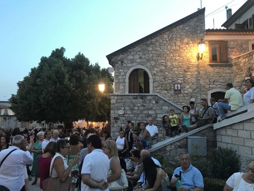 medieval festival in rocca san felice, italy